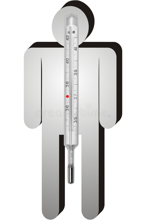 termometer stock illustrationer