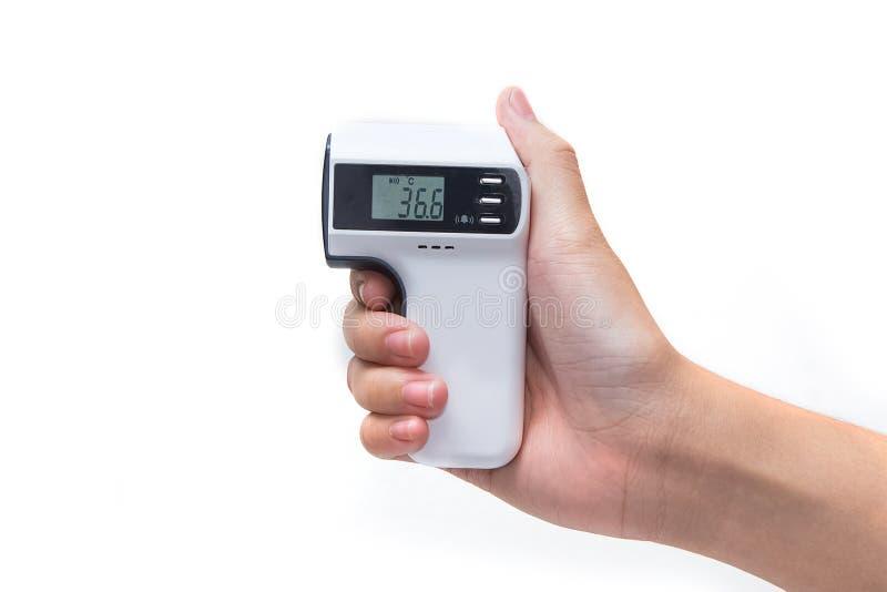 Termometer för handhållinfrared royaltyfria bilder