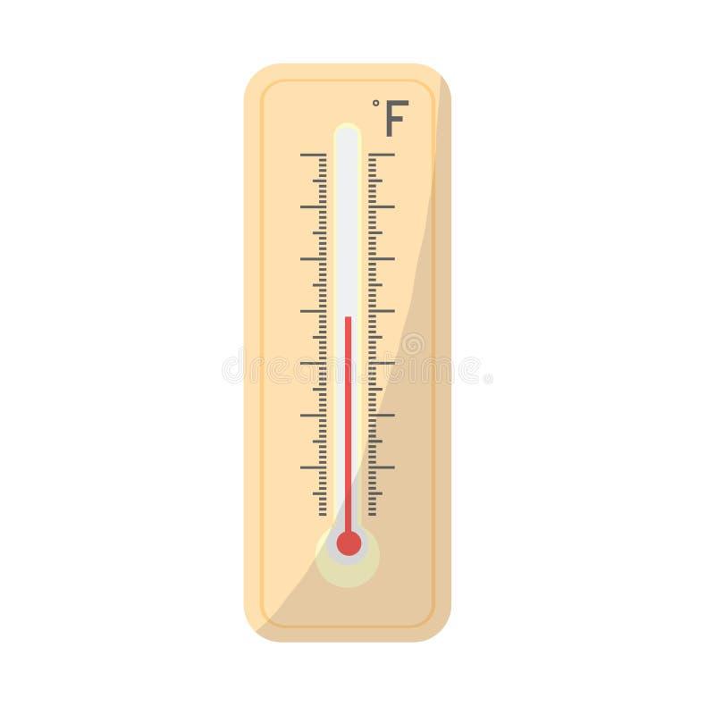 Termometer Fahrenheit Mäta Varm Och Kall Temperatur Vektor