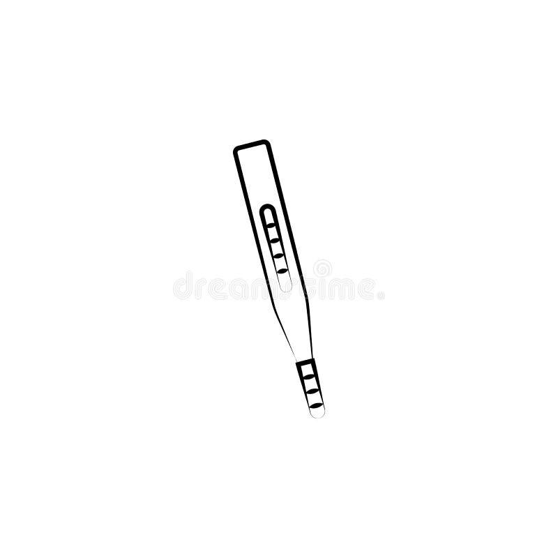 Termometerbegreppslinje symbol Enkel beståndsdelillustration Design för symbol för termometerbegreppsöversikt från moderskapuppsä stock illustrationer