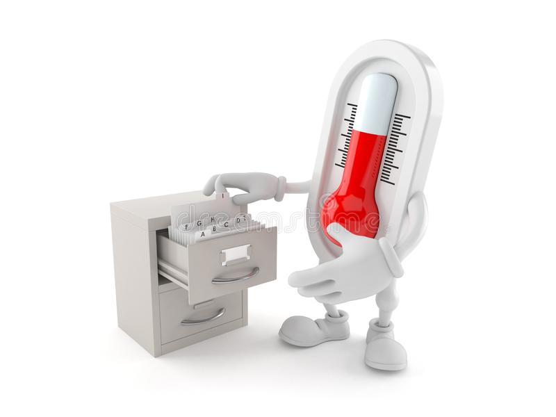 Termometertecken med arkivet vektor illustrationer