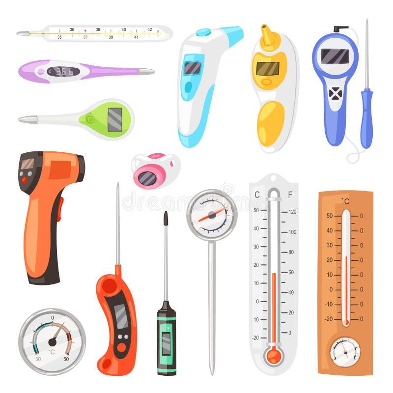 Celsius Vektor För Fahrenheit Termometer Vektor