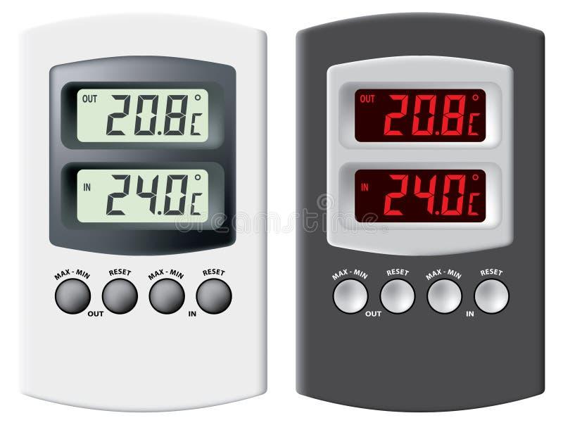termometr elektronicznego royalty ilustracja