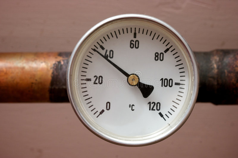 termometr grzejna woda zdjęcia stock