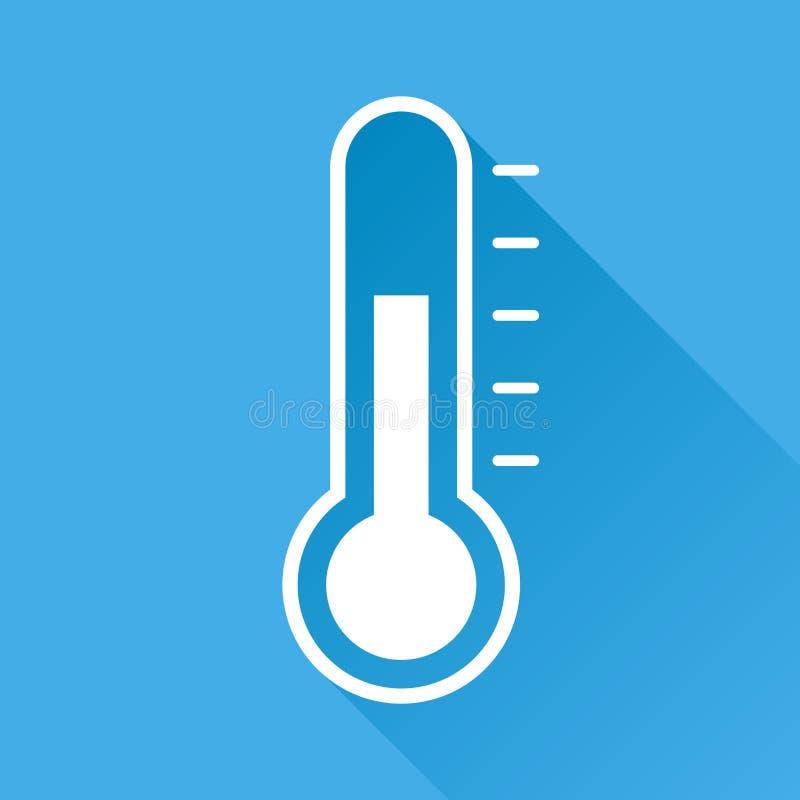 Termometr ikona royalty ilustracja