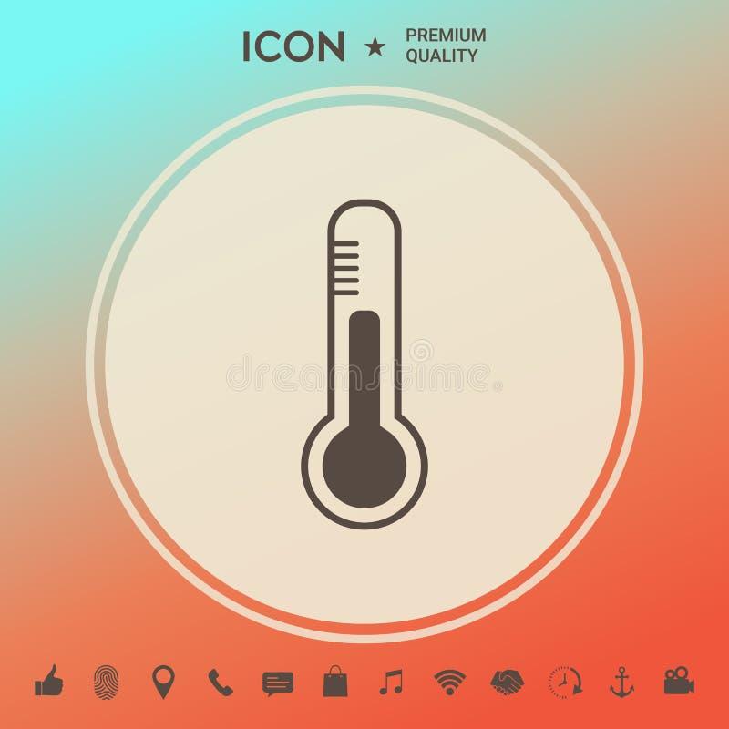 Termometr ikona symbol ilustracja wektor