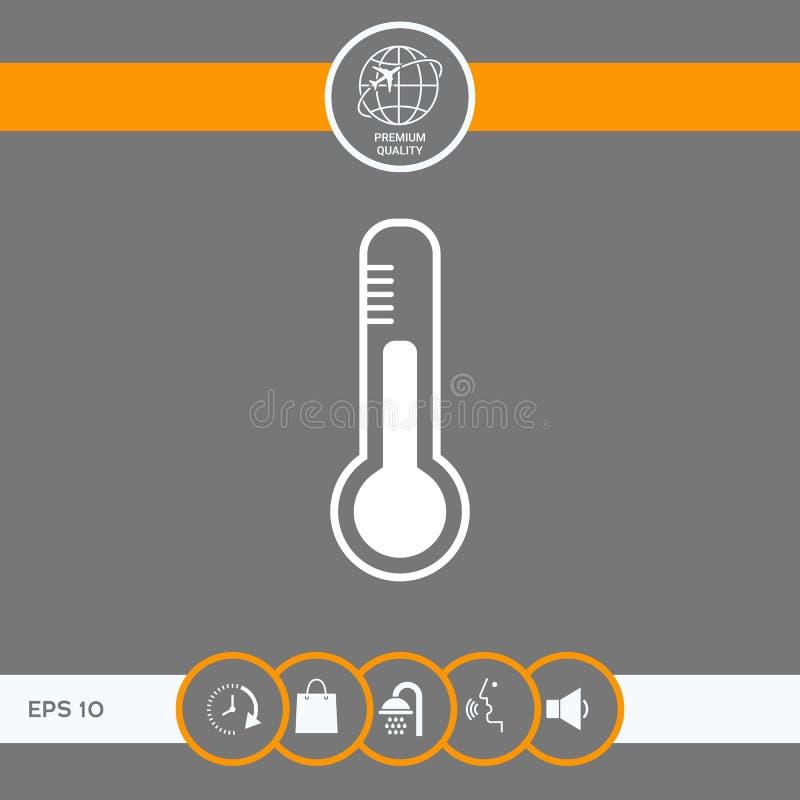 Termometr ikona symbol royalty ilustracja