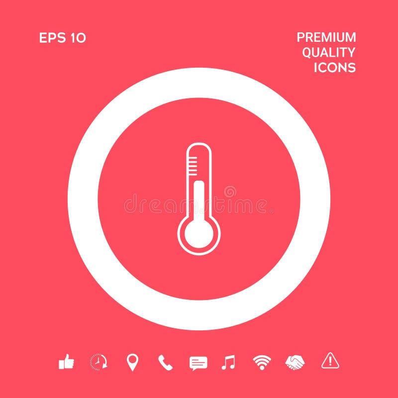 Termometr ikony symbol Graficzni elementy dla twój projekta ilustracji