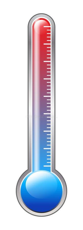 Termometro fotografia stock