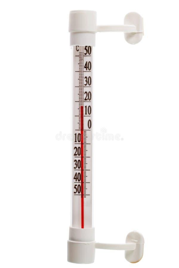 Termometro all'aperto immagine stock libera da diritti