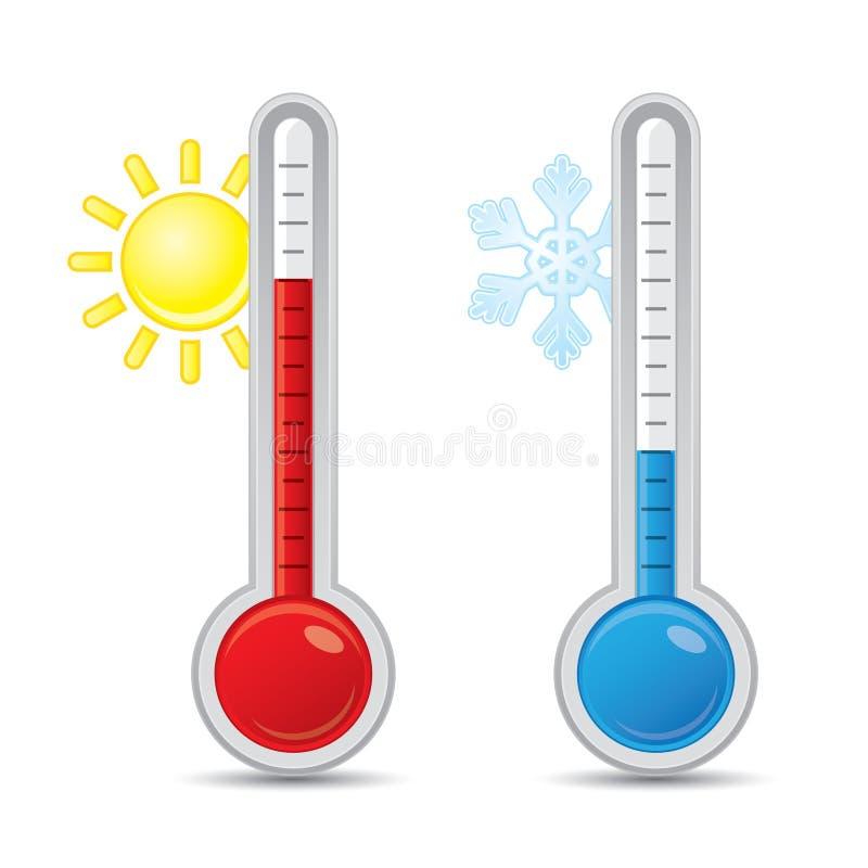 Termometro con la scala illustrazione vettoriale