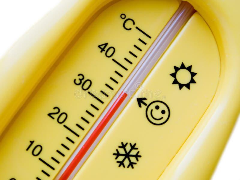 Termometro di temperatura della sanità fredda di calore immagini stock libere da diritti