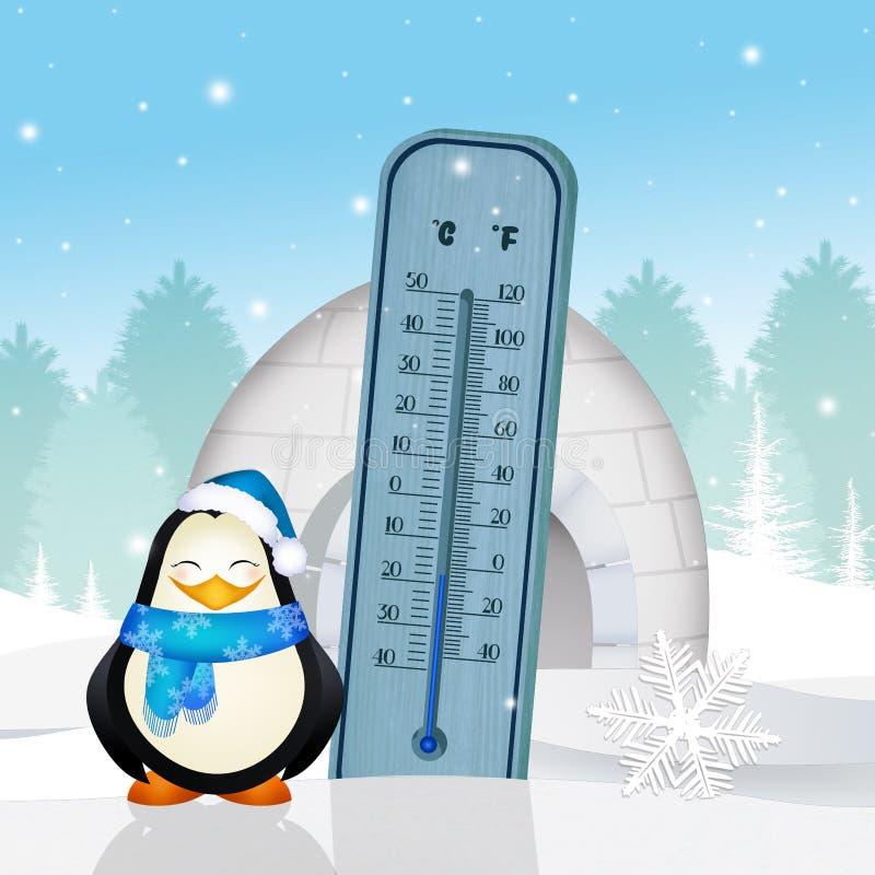 Termometro freddo nell'ambito di zero royalty illustrazione gratis
