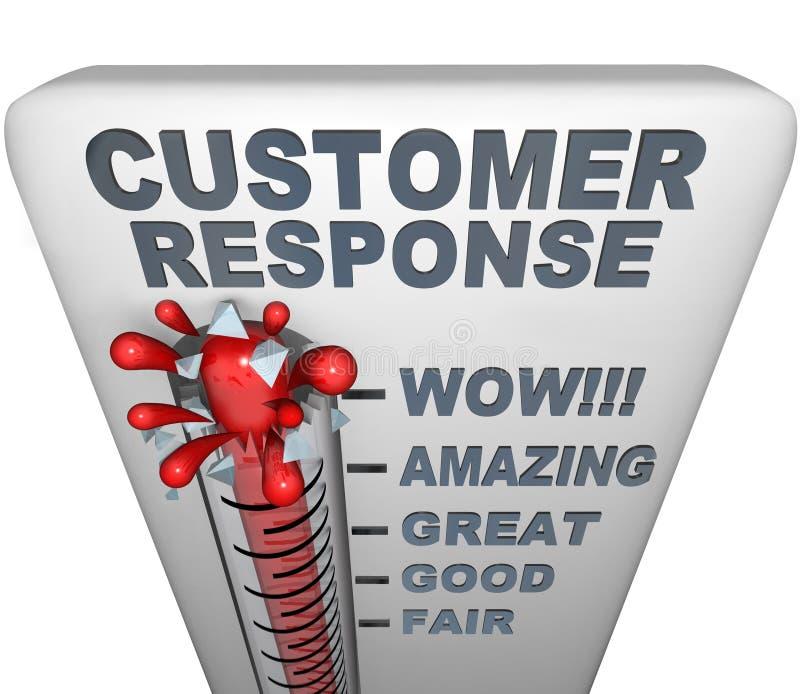 Termometro - risposta del cliente royalty illustrazione gratis