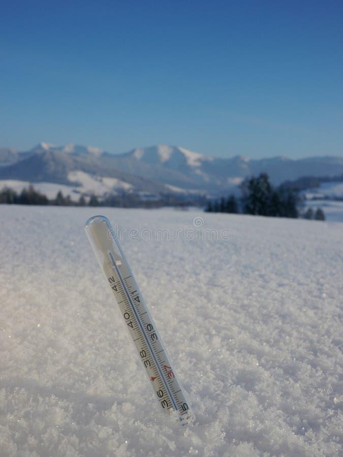Termometru śnieg zdjęcie stock