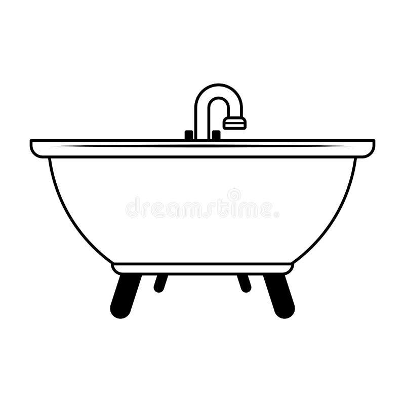 Termometru medyczny symbol odizolowywaj?cy w czarny i bia?y ilustracja wektor