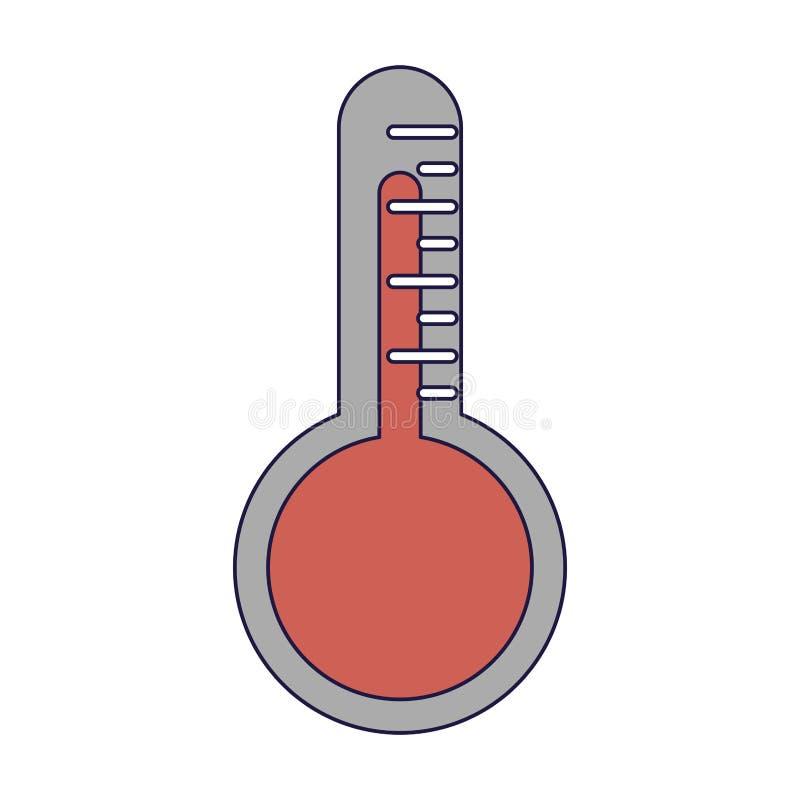 Termometru symbolu odosobnione niebieskie linie ilustracji