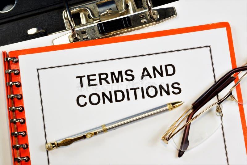 Termos e condições Um ato jurídico que define as regras e responsabilidades básicas de uma organização ou agência governamental C foto de stock royalty free
