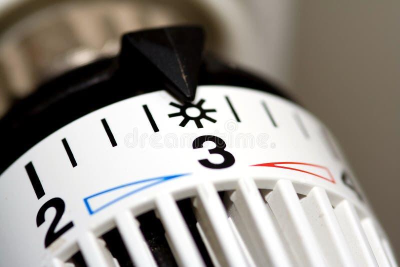 Termostato del riscaldatore fotografie stock libere da diritti