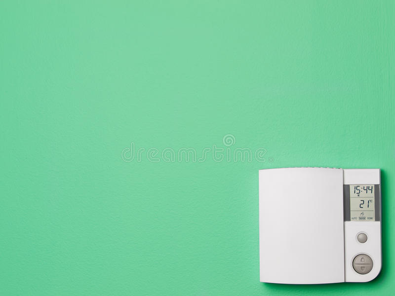 Termostato della casa di comando digitale immagine stock