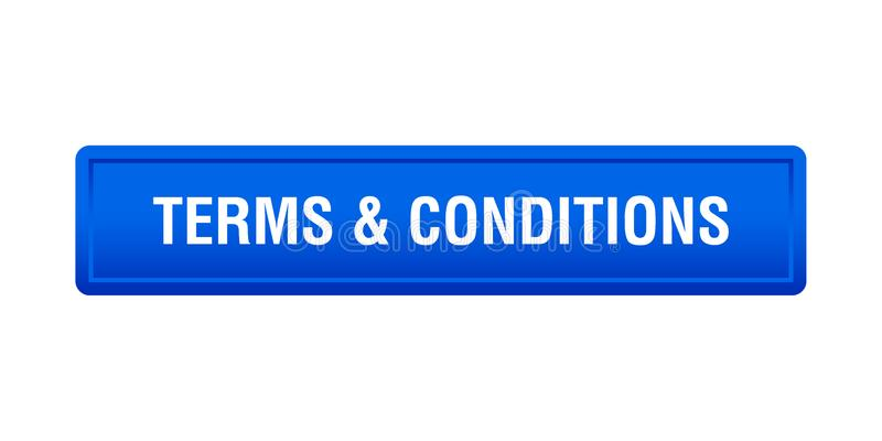 Terms and conditions. Button - computer generated illustration on isolated white background royalty free illustration