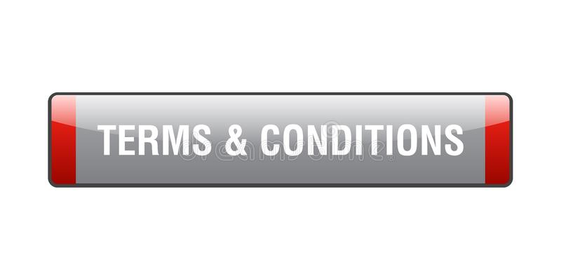 Terms and conditions. Button - computer generated illustration on isolated white background stock illustration