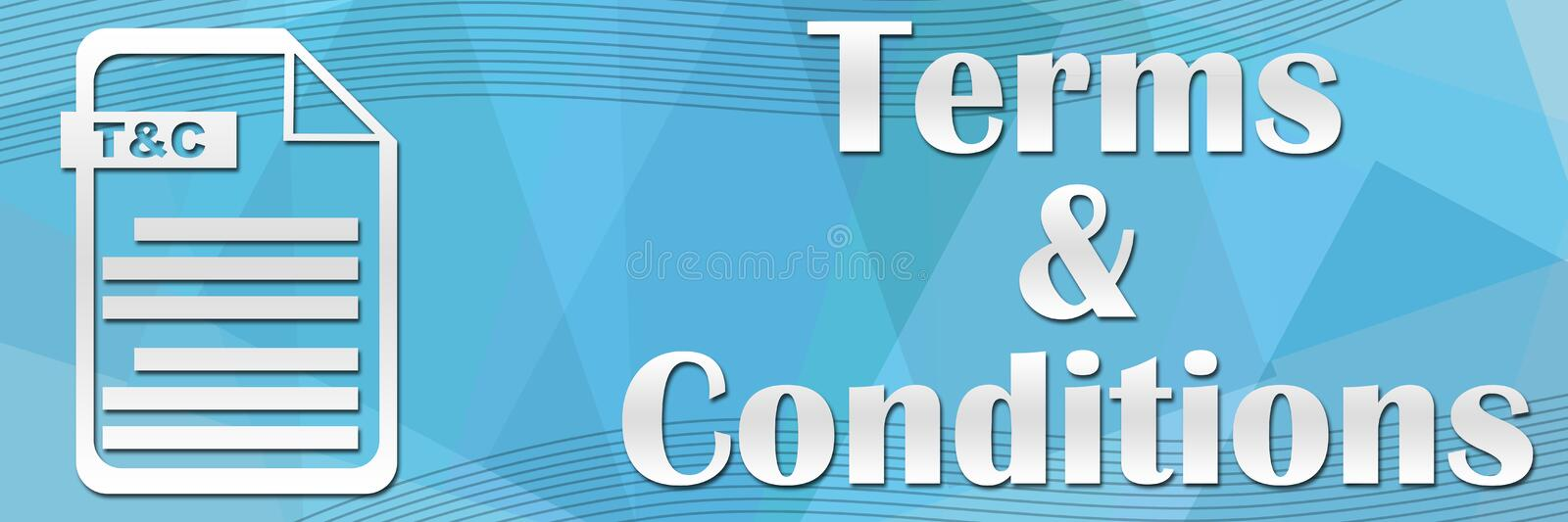 Terms And Conditions. Concept banner image with text and tnc file icon vector illustration
