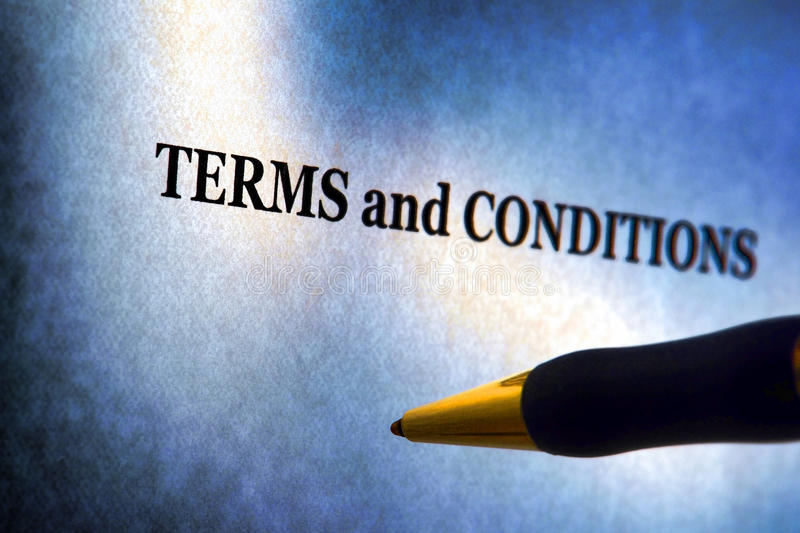 Terms and Conditions Legal Notice and Pen stock photo