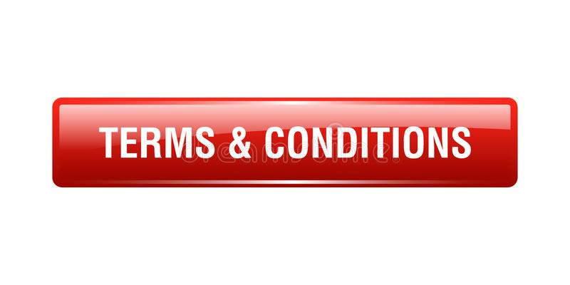 Terms and conditions. Button - computer generated illustration on isolated white background vector illustration