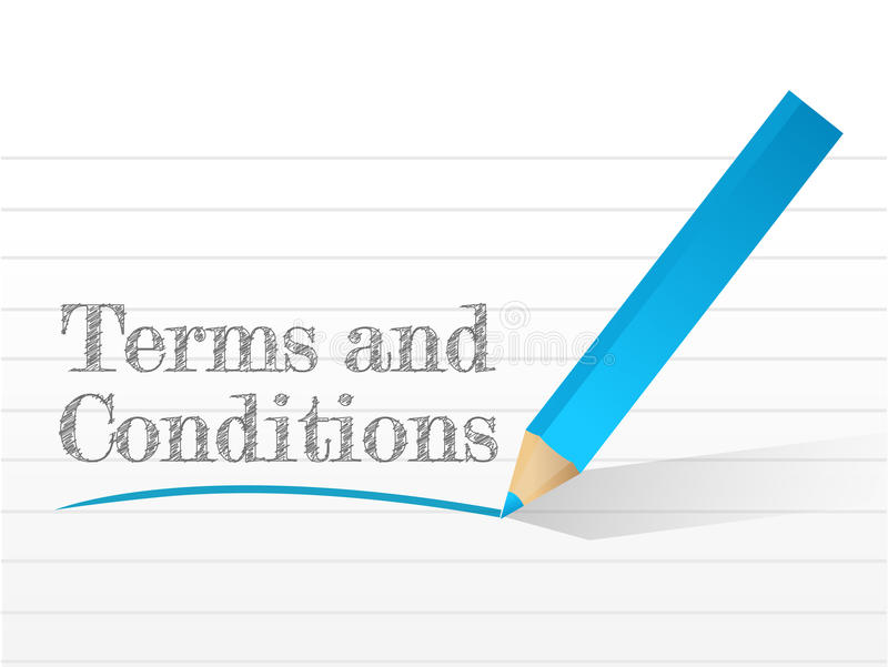 Terms and conditions written. On a notepad paper vector illustration