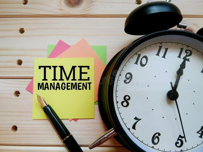Terms of work life balance `Time Management` royalty free stock image