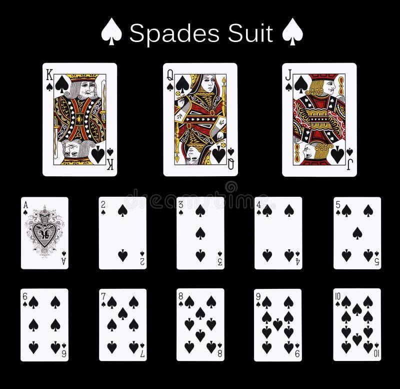 Terno da pá dos cartões de jogo imagens de stock royalty free