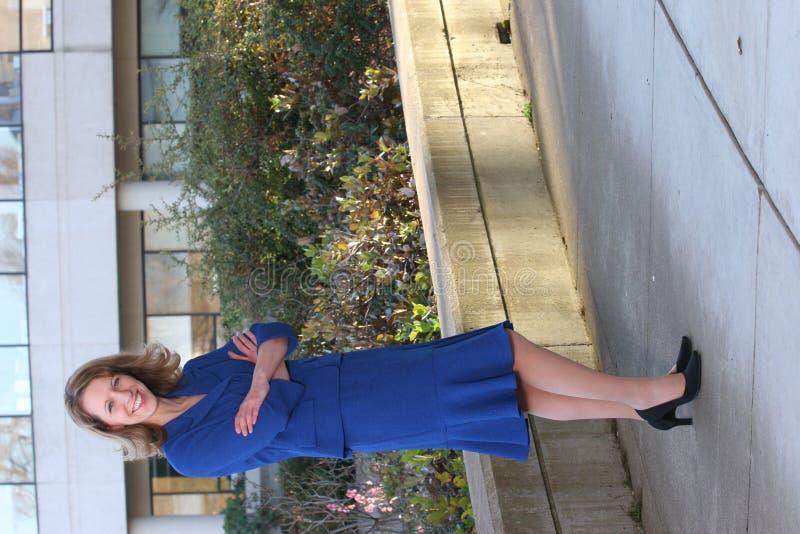 Terno de negócio azul fotografia de stock royalty free