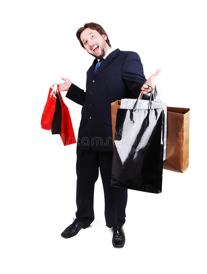 Terno do homem atrativo novo e loja desgastando prender fotos de stock royalty free