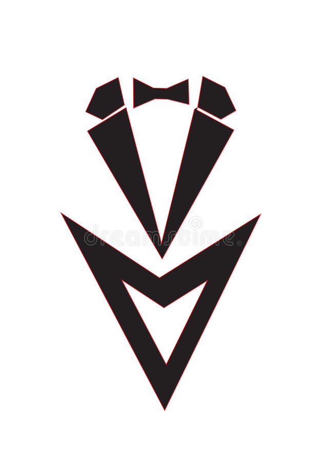 Terno do logotipo imagens de stock