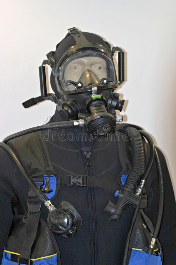 Terno do mergulho do mergulhador fotografia de stock