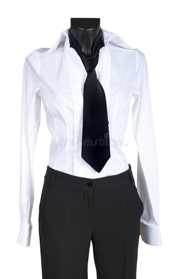 Terno fêmea com uma gravata fotografia de stock royalty free