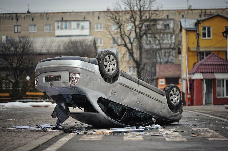 Ternopil, UCRAINA - febbraio 2014: Euromaidan giro immagine stock