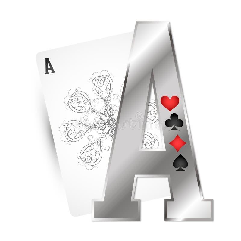 Ternos diferentes do cartão de Ace ilustração do vetor