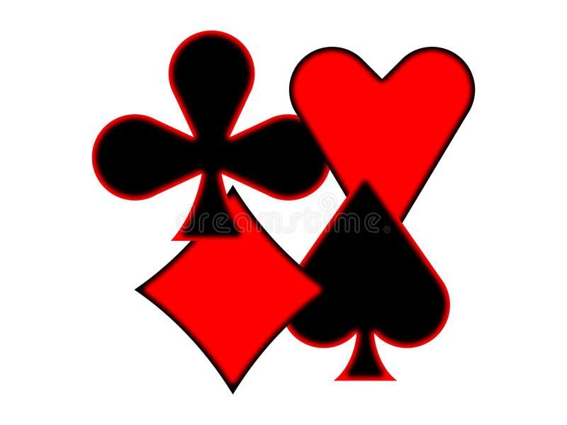Ternos do cartão de jogo ilustração royalty free