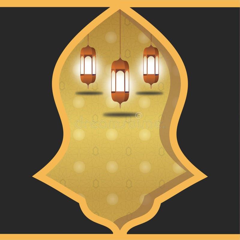 Terompah premio dei backgrouds del nuovo anno dell'oro illustrazione di stock