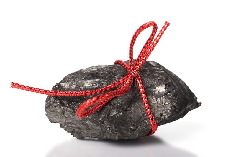 Terrón del carbón de la Navidad fotografía de archivo libre de regalías