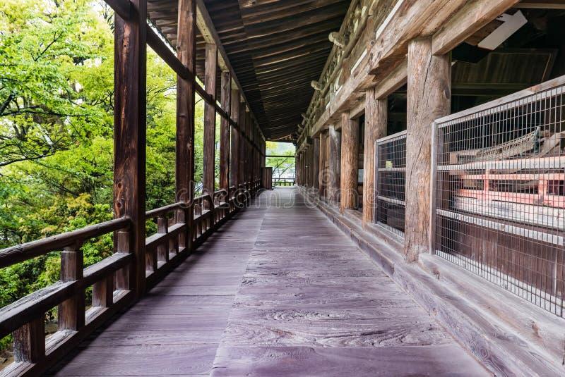 Terraço de Senjokaku & de x28; Toyokuni Shrine& x29; na ilha de Miyajima foto de stock