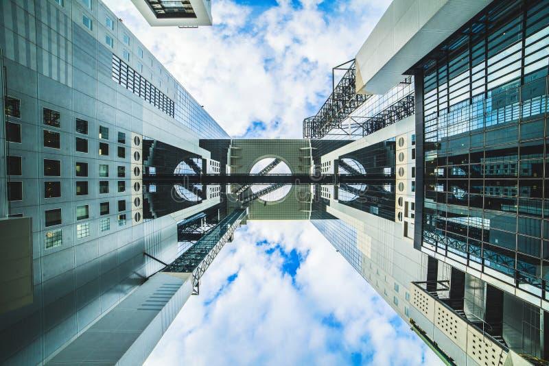 Terraço do céu em Umeda fotos de stock