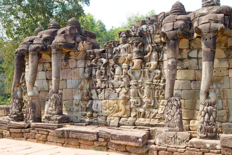 Terraço dos elefantes fotografia de stock