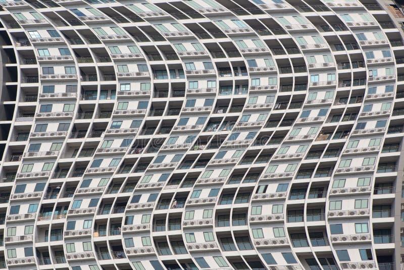 Terraço e janelas das construções imagens de stock royalty free