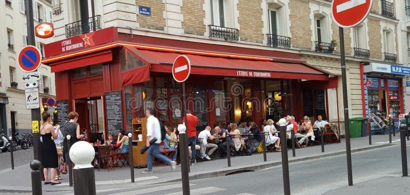 Terraço parisiense imagens de stock royalty free