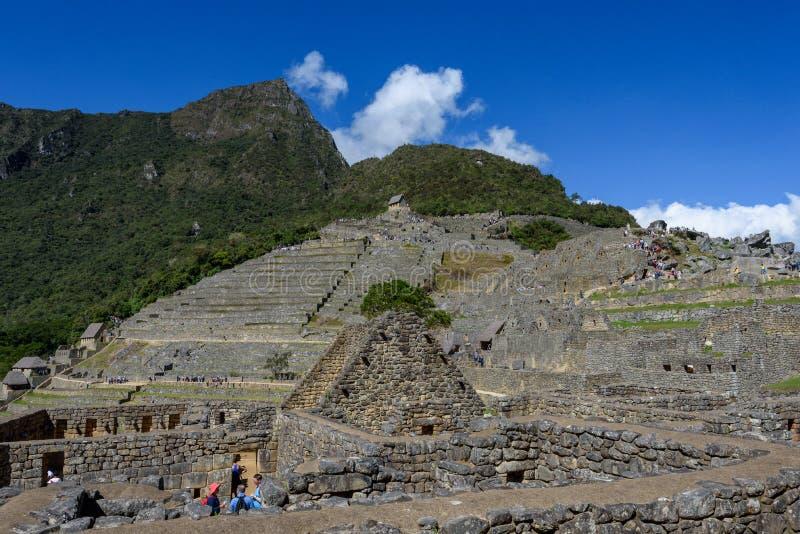Terraços agrícolas em Machu Picchu imagens de stock
