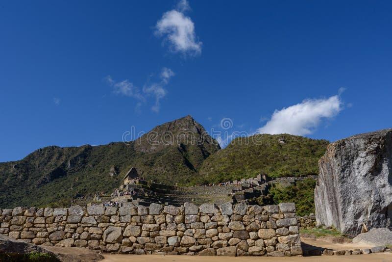 Terraços agrícolas em Machu Picchu imagem de stock