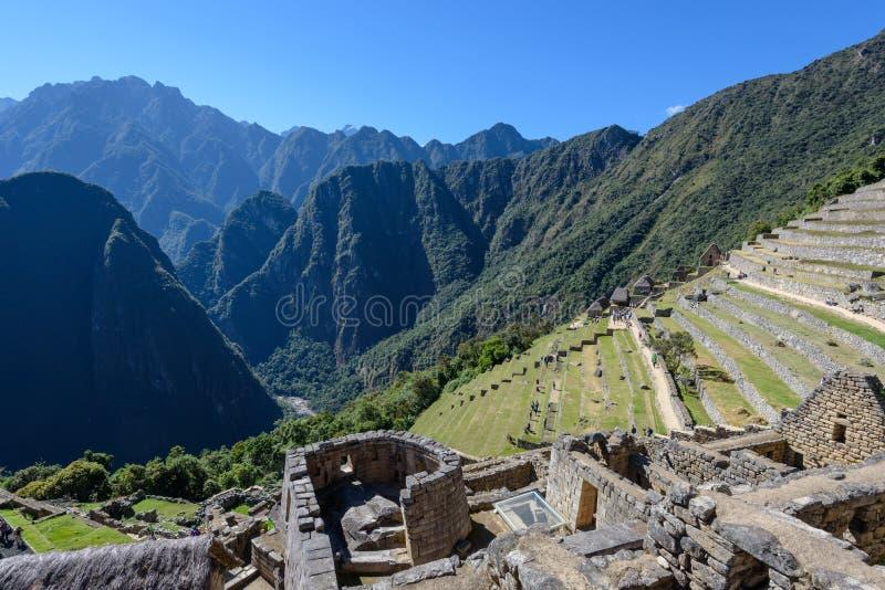 Terraços agrícolas em Machu Picchu fotos de stock royalty free